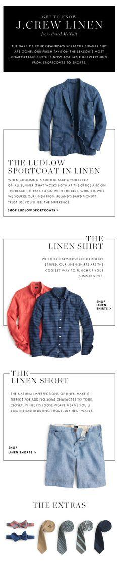 Get To Know J.Crew Linen: Irish Linen