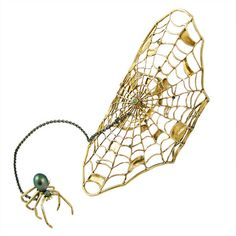Beautiful Spider Web Bracelet with Spider Ring