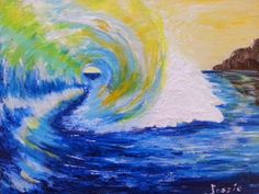 The perfect wave to surf curling spiral of Beauty. Surf Art, Style Vintage, Rip Curl, Paintings For Sale, Outdoor Travel, Art Quotes, Surfing, Billabong, Roxy