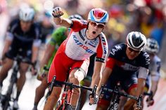 Gallery: 2014 Tour de France, stage 15 - Alexander Kristoff celebrates his second victory of this Tour. Photo: Tim De Waele | TDWsport.com