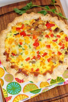 Sassy Sausage Breakfast Pie > Willow Bird Baking