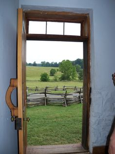 View from Inside the Stone House, Manassas Battlefield