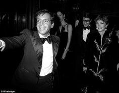 Owner Steve Rubell, Marina Schiano, Yves Saint Laurent and Loulou de la Falaise attend the party for Opium Perfume Launch on September 20, 1978 at Studio 54. A year later the club was raided by the IRS.