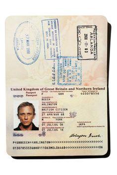 Bond's passport: Casino Royale, 2006