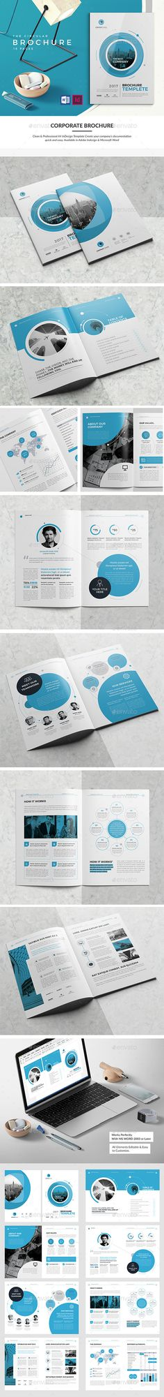 Co Brochure Template InDesign INDD 16 Pages