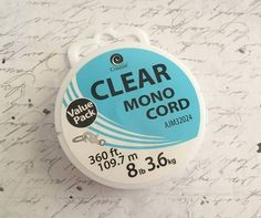 Clear Beading Thread, 369ft, NIP, Non Stretch, Beading, Jewelry Making, Supply, Destash, Gift Idea, Gift Idea 4 Her by AnniMaesCollectibles on Etsy