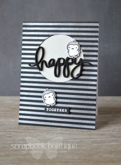 Lostinpaper - Mama Elephant embossing paste - Happy Together card (video)