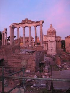 Rome forum at sunset