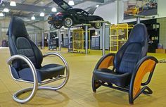 18 Brilliant Pieces of Furniture Made from Recycled Car Parts - BlazePress Car Part Furniture, Automotive Furniture, Automotive Decor, Metal Furniture, Handmade Furniture, Unique Furniture, Custom Furniture, Furniture Making, Furniture Design