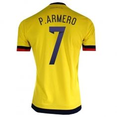 64c1de1c0 2015 Colombia Soccer Team Home Yellow P.Armero  7 Replica Jersey 2015 Colombia  Soccer Team Home Yellow P.Armero  7 jerseys