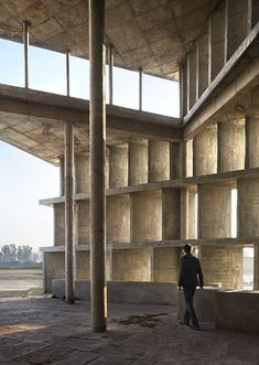 Tower of Shadows, By Le Corbusier, Chandigarh, India