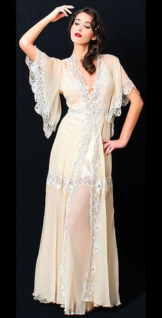Gown Liliana Casanove Tuileries SIlk Night Gown and Robe $646