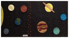 Solar System Quiet Book Page or Play Mat by ThePurpleEmpire