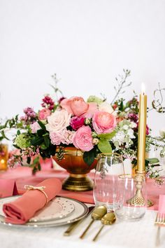 #tablesccape Kate Spade Inspired Dinner Party June #2015 ~ Floral: Nancy Liu Chin
