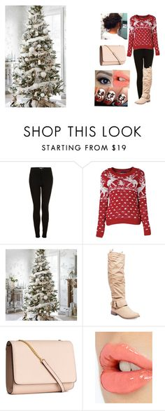 """6 days until Christmas"" by danakadri43 on Polyvore featuring Topshop, Wet Seal, H&M and Charlotte Tilbury"