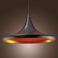 60W Streamlined Pendant Light in Black - USD $ 69.99