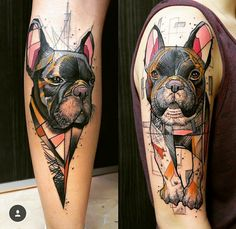 Amazing Dog Tattoos For Dog Lovers Abstract Dog Tattoo by SchweinAbstract Dog Tattoo by Schwein Tattoo Bulldog, Boxer Tattoo, French Bulldog Tattoo, Dog Tattoos, Animal Tattoos, Arm Tattoo, Print Tattoos, Sleeve Tattoos, Greyhound Tattoo