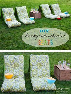 DIY Outdoor Movie Theater Seats
