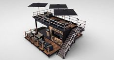 Container bistro / coffee shop concept by Universal Container Services Ltd. Container Coffee Shop, Container Shop, Container House Design, Cafe Shop Design, Kiosk Design, H Design, Shipping Container Sheds, Shipping Container Restaurant, Container Architecture