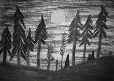 Original Art Charcoal Drawing Sun Above A by MikeMBurkeDesigns, $5.00