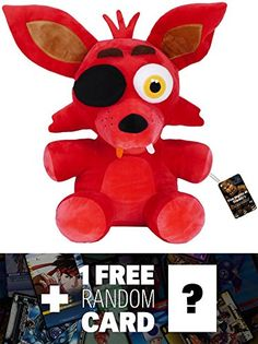 Foxy: ~16' Funko x Five Nights at Freddy's Large Plush   1 FREE Video Games Themed Trading Card Bundle (091248) * Click on the image for additional details.(It is Amazon affiliate link) #LetYourBabytoPlay