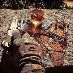 Tactical Tuesday | @patch.me.up #cigarsandguns #cigars #guns #2a #everydaycarry #tacticaltuesday #nowsmoking #gunporn #puffpuffpewpew