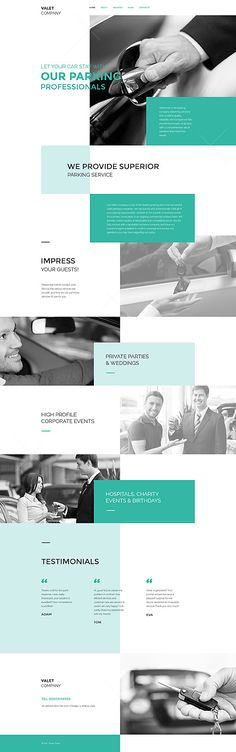 Template 57708 - Valet Company  Responsive Website Template