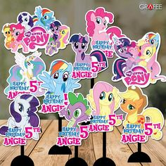 10 Personalise Little Pony Centerpiece with mirrored images