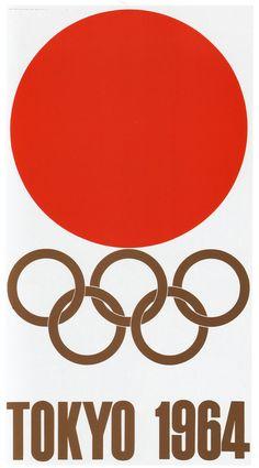 Yusaku Kamekura: Tokyo 1964, XVIIIth Olympic Games - in its simplicity one of my all time favourites