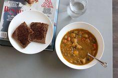 Chicken Broth, Sweet Potato & Vegetable Soup (dairy-free, gluten-free) | Liezl Jayne