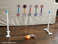 How to Make a Nerf Spinning Target - Frugal Fun For Boys                                                                                                                                                                                 More