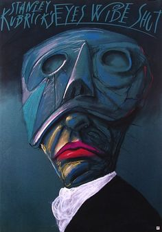 Polish poster for Eyes Wide Shut (1999), perhaps not a lost art form entirely