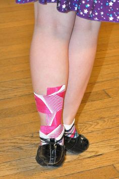 KT Tape Pro for achilles in Irish Dancing