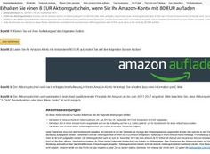 """Amazon: 8 Euro geschenkt beim Aufladen mit 80 Euro https://www.discountfan.de/artikel/c_gratis-angebot/amazon-8-euro-geschenkt-beim-aufladen-mit-80-euro.php Amazon hat jetzt eine spannende Auflade-Aktion gestartet: Wer sein Kundenkonto mit 80 Euro """"auflädt"""", erhält im Gegenzug einen Aktionsgutschein über acht Euro. Leider gilt die Aktion nicht für alle Kunden. Amazon: 8 Euro geschenkt beim Aufladen mit 80 Euro (Bild: Amazon.de) Die acht... #Gratis, #Guthabe"""