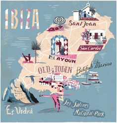 Ibiza illustrated map