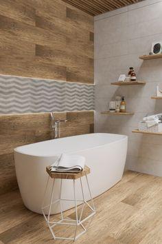 foorni.pl | Przestronna łazienka z wanną. #łazienka #wanna #drewno #biel #wnętrze #projekt Berlin Apartment, Craft Room Design, Attic Bathroom, Bathroom Design Luxury, Shower Tub, House Design, Home Decor, Bathroom Ideas, Washroom