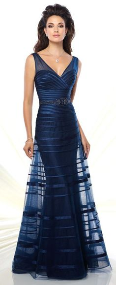 426d31c70a Sleeveless Tulle   Satin A-Line Gown - Montage by Mon Cheri 116936