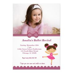 Sold this #ballet #recital invitation to HI. Thanks for you who purchased this.
