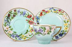 Vintage Minton Trio Hand Painted English Summer Flowers, Burns C.1957 On eBay