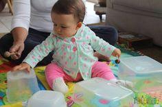 10 brincadeiras sensoriais (brincadeiras sensoriais foram criadas para que estimulem os 5 sentidos: paladar, olfato, tato, visão e audição) para bebês.