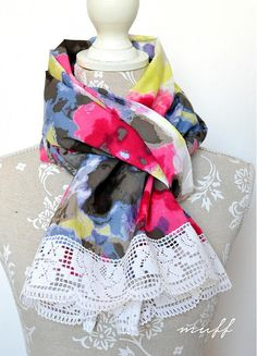 Jarný šálik by muff - SAShE. Scarves, Handmade, Scarfs, Hand Made, Tie Head Scarves, Arm Work