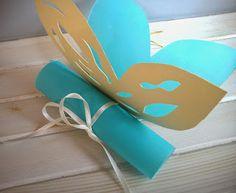 προσκλητήριο βάπτισης πεταλούδα Blog, Invitations