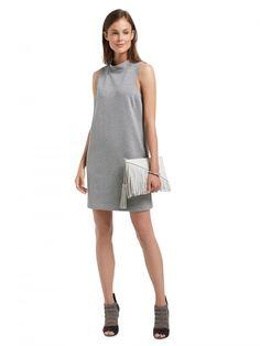 Higher Necklines - Funnel Neck Dress - Clothing - Sussan