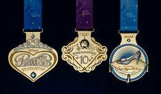 2014 runDisney Disney's Princess Half Marathon medals. www.bamagirlruns.blogspot.com