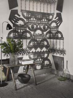 """Totem"" wallpaper by Albert Sjöstam for Photowall"