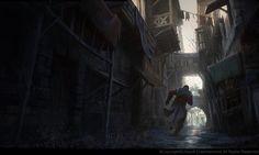 Medieval street. by Gilles Beloeil | Illustration | 2D | CGSociety