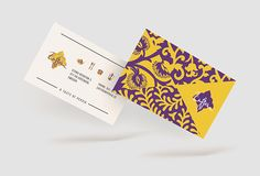 Business cards. Identity for family persian restaurant Zaffran in Gothenburg, Sweden.