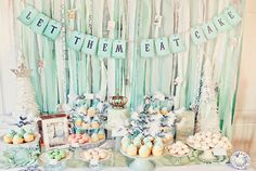 Marie Antoinette inspired dessert table! What a pretty idea. photo via The Little Umbrella