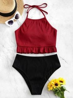 Textured Ribbed Ruffle Halter Tankini Swimsuit RED WINE Textured Ribbed Ruffle Halter Tankini Swimsuit RED WINE Pure Fashion Home Pure Fashion Home ZAFUL Textured Ribbed Ruffle Halter Tankini Swimsuit They are beautiful lovable hellip for pear shape Swimsuit For Small Chest, One Piece Swimsuit For Teens, Swimsuit For Body Type, Swimsuit With Shorts, Swimsuit For Moms, Women's Shorts, Swim Shorts, Swimsuits For Curves, Flattering Swimsuits