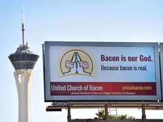 Bacon is our God. Because bacon is real. - Imgur